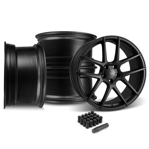 Velgen Mustang VMB5 Wheel & Lug Kit 20x9/10.5  - Satin Black (05-14)