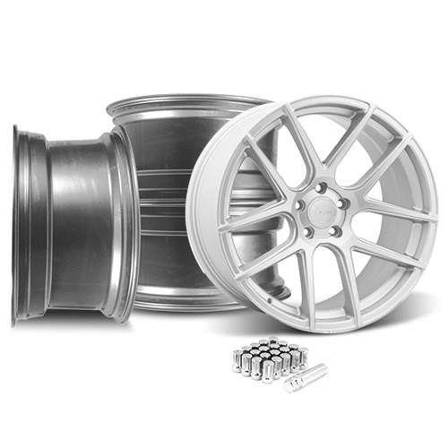 Velgen Mustang VMB5 20X9 Wheel And Lug Nut Kit Silver (05-14)