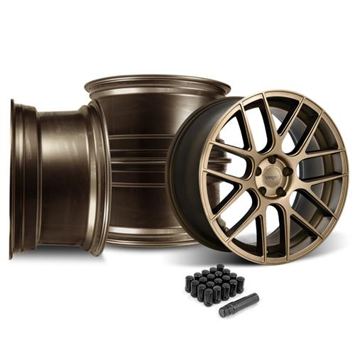 Velgen Mustang VMB7 Wheel & Lug Nut Kit - 20x9/10.5 Bronze (15-16)