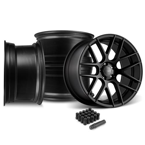 Velgen Mustang VMB7 20x9/10.5 Wheel Kit  - Satin Black (05-14)