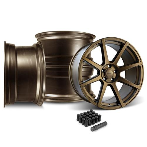 Velgen Mustang VMB8 Wheel & Lug Nut Kit - 20x9/10.5 Bronze (05-14) - Velgen Mustang VMB8 Wheel & Lug Nut Kit - 20x9/10.5 Bronze (05-14)