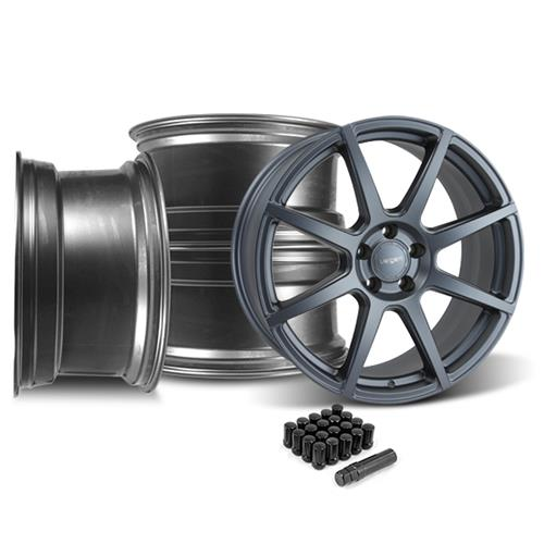 Velgen Mustang VMB8 20X9 Wheel & Lug Nut Kit  Gunmetal (15-16)