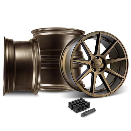 Velgen Mustang VMB9 Wheel & Tire Kit - 20x9/10.5 Bronze (05-14)
