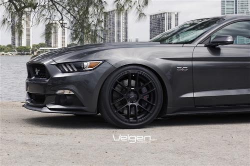 Velgen Mustang VMB6 Wheel & Lug Nut Kit - 20x9/10.5 Satin Black (15-16) - Velgen Mustang VMB6 Wheel & Lug Nut Kit - 20x9/10.5 Satin Black (15-16)