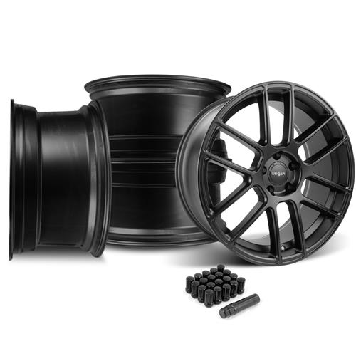 Velgen Mustang VMB6 Wheel & Lug Nut Kit - 20x9/10.5 Satin Black (05-14)
