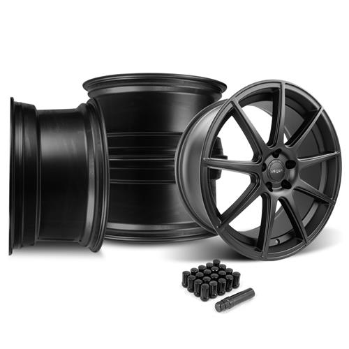 Velgen Mustang VMB9 Wheel & Lug Nut Kit - 20x9/10.5 Satin Black (15-16)
