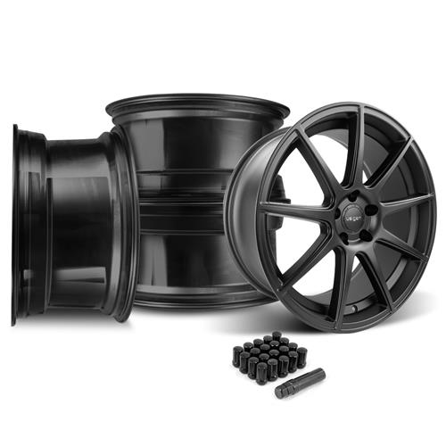 Velgen Mustang VMB9 Wheel & Lug Nut Kit - 20x9/10.5 Satin Black (05-14)