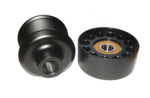 "2007-2012 GT500 Stock look 2.5"" Pulley  Comes with 2.5"" Pulley that looks like factory and 90mm Idler Pulley, nets 3-4psi  http://vmptuning.com/shelby-pulley-products/vmp25w90/"