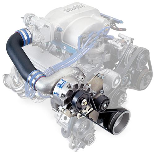 Vortech Mustang 5.0L V-3 SCi Non-Intercooled Entry Level System Satin (86-93) 5.0L 4FA218-010L