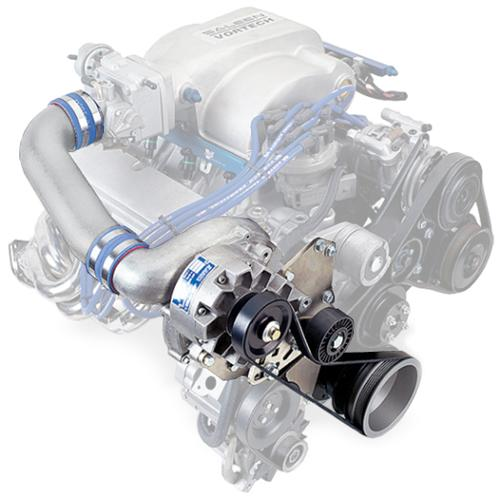 Vortech Mustang V-3 SI-Trim H.O. Supercharger Kit Non-Intercooled, Satin (86-93) 4FA218040L