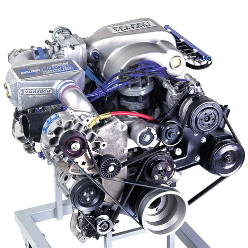 Vortech Mustang 5.0L V-3 Si H.O. Intercooled Complete Kit Polished (86-93)