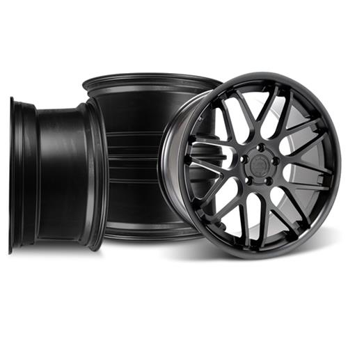 Mustang Downforce Wheel Kit - 20x8.5/10 Matte Black (05-15)