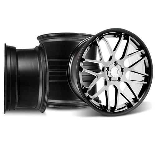 Mustang Downforce Wheel Kit - 20x8.5/10 Matte Black w/ Machined Face (05-15)