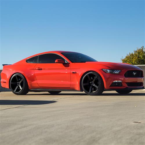 Mustang DF5 Wheel Kit - 20x8.5/10 Flat Black (05-15) - Mustang DF5 Wheel Kit - 20x8.5/10 Flat Black (05-15)
