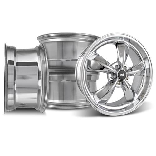 Mustang Bullitt Wheel Kit - 20x8.5/10 Chrome (05-17)