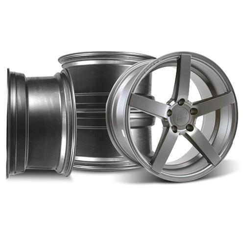 Rovos Mustang Durban Wheel Kit - 18x9 Satin Gunmetal (94-04)