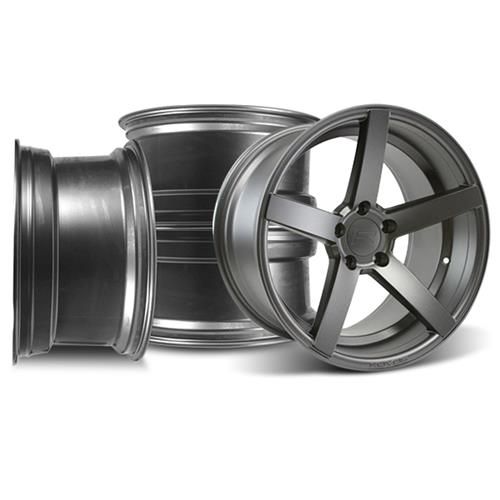 Rovos Mustang Durban Wheel Kit - 18x9/10.5 Satin Gunmetal (94-04)
