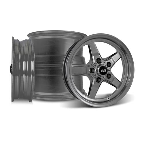 Mustang SVE Drag Wheel Kit 15X3.75/10 Dark Stainless (05-10)