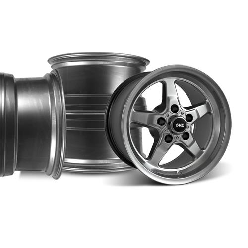 SVE Mustang Drag Wheel Kit 15X3.75/10 Dark Stainless (94-04)