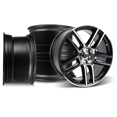Mustang Boss 302 S Wheel Kit- 19X9/10 Black Machined (05-14)