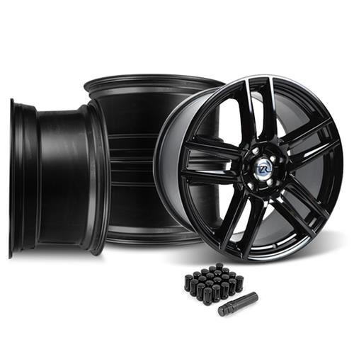 Mustang Boss 302 S Wheel & Lug Nut Kit - 19x9/10 Gloss Black (15-17)
