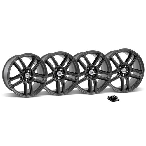 Mustang Boss 302 S Wheel & Lug Nut Kit - 19x9/10 Matte Black (15-16)