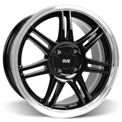 SVE Mustang Anniversary Wheel Kit - 17x9/10   - Black (79-93)