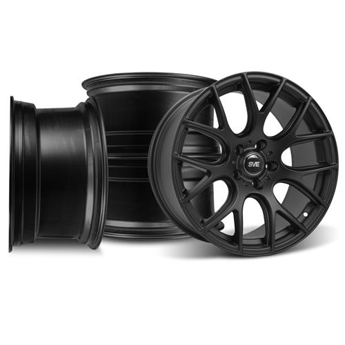 SVE Mustang Drift Wheel Kit - 18x9/10 Flat Black (94-04)