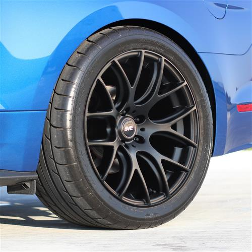 SVE Mustang Drift Wheel & Lug Nut Kit - 19x9.5 Flat Black (15-17)