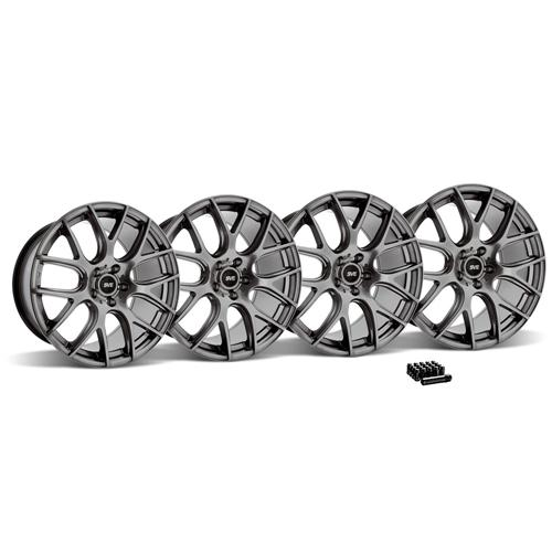 SVE Mustang Drift Wheel & Lug Nut Kit - 19x9.5 Dark Stainless (2015)