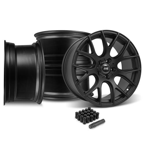 SVE Mustang Drift Wheel Kit - 18x9/10 Flat Black (15-16)