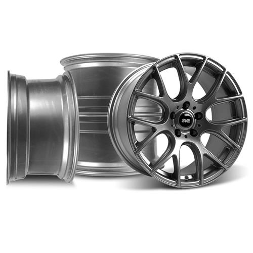 Mustang SVE Drift Wheel Kit - 18x9 Dark Stainless (05-14)
