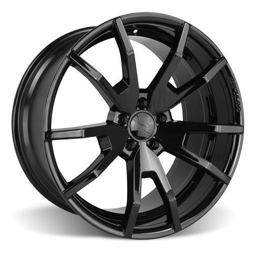 CDC Mustang Outlaw 20X9/10 Wheel & Lug Nut Kit  Black (15-16)
