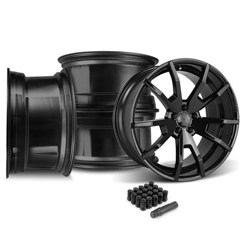 CDC Mustang Outlaw 20X10 Wheel & Lug Nut Kit  Black  (05-14)