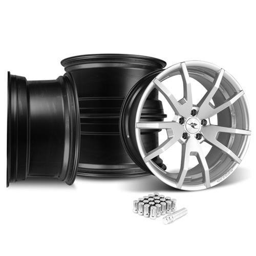 CDC Mustang Outlaw 20X9/10 Wheel & Lug Nut Kit  Silver (15-16)