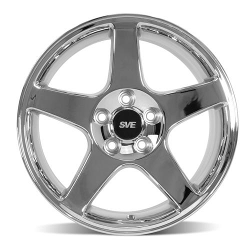 Mustang 03 Cobra Wheel Kit - 17x9 Chrome (94-04)
