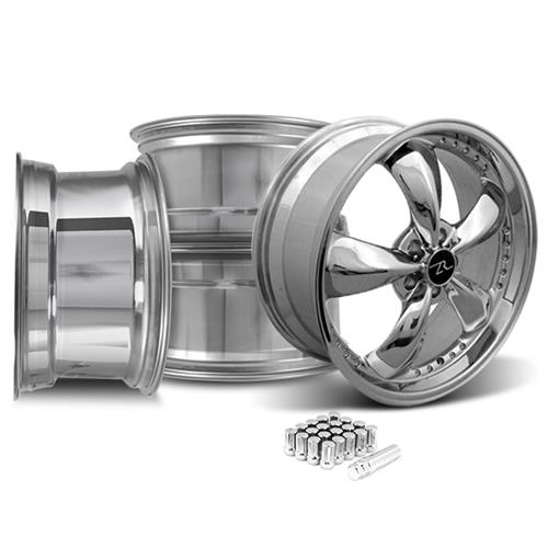 Mustang Motorsport Bullitt Wheel & Lug Nut Kit 20x8.5/10 Chrome (15-16)