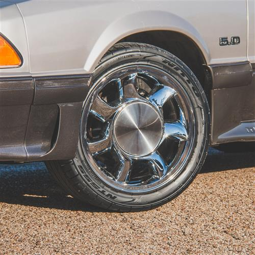 Mustang 93 Cobra Wheel Kit - 17x8.5 Chrome (79-93)