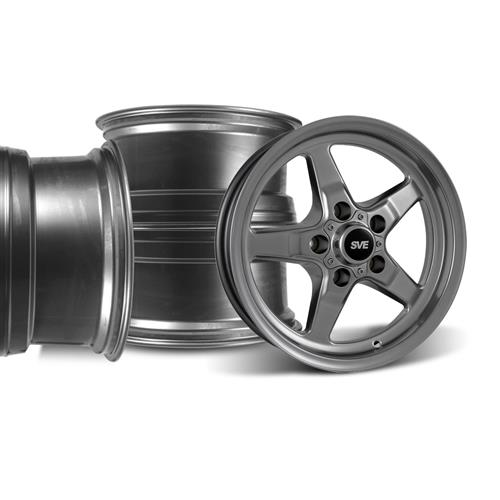 SVE Mustang Drag Wheel Kit 17X4.5/15x10 Dark Stainless (94-04)