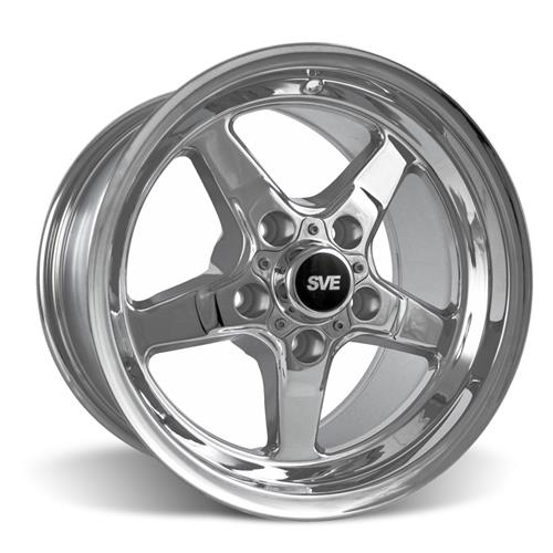 SVE Mustang Drag Wheel Kit 17X4.5/15x10 Chrome (05-14)