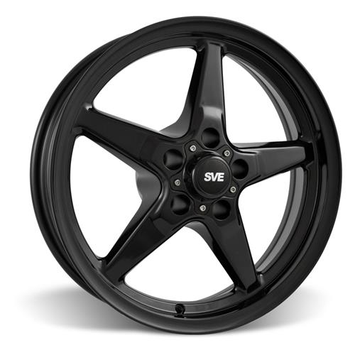 SVE Mustang Drag Wheel Kit 17X4.5/15x10 Gloss Black (05-14)