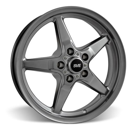 SVE Mustang Drag Wheel Kit 17x4.5/15x10 Dark Stainless (05-14)