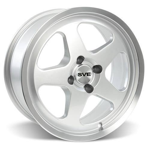 Mustang 17X8/9 Saleen SC Wheel Kit Silver (79-93)