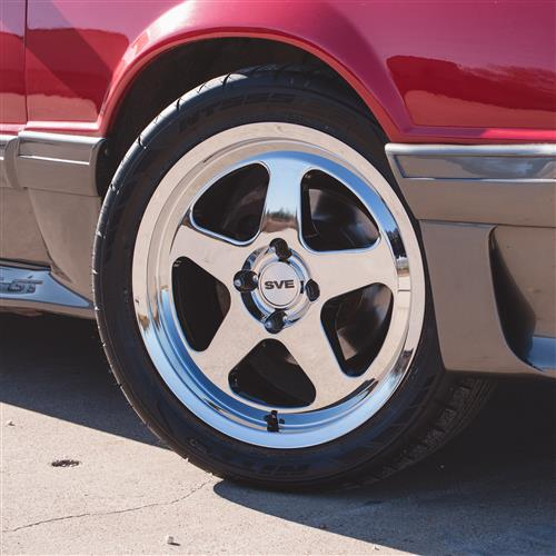 Mustang Saleen SC Wheels 17x9/10  - Chrome (79-93)