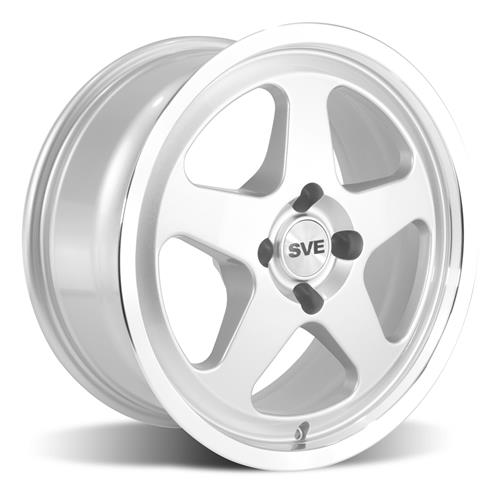 Mustang 17X9/10 SC Style Wheel Kit Silver (79-93)