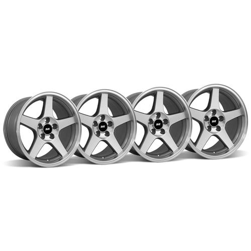 Mustang 03 Cobra Wheel Kit - 17x9 Machined (94-04)