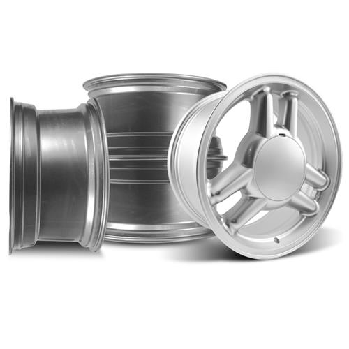 SVE Mustang Tri-Bar Wheel Kit - 17x8 - 4 Lug Silver (79-93)