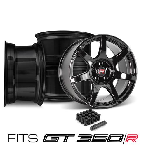 SVE Mustang R350 Wheel Kit - 19x10/11  - Gloss Black (15-18) Fits GT350/R