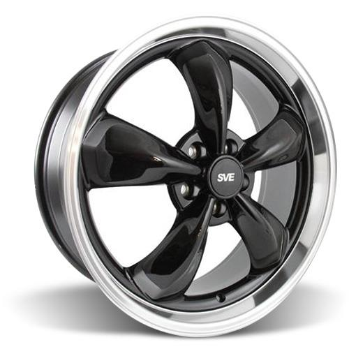 Mustang Bullitt Wheel Kit - 20x8.5 Black w/ Mirror Lip (05-16)