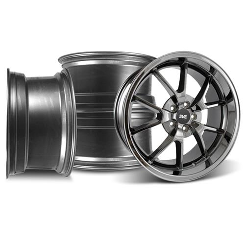 Mustang FR500 Wheel Kit - 20x8.5/10 Black Chrome (05-15)